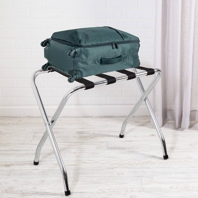 Honey-Can-Do Luggage Rack Silver