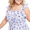 Women's Amalie Tiered Ruffle Dress - LoveShackFancy for Target (Regular & Plus) White/Blue  - image 4 of 4