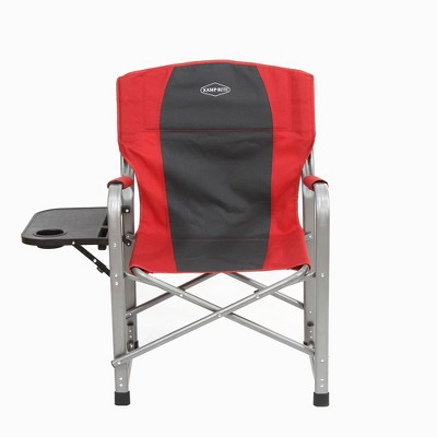 Kamp Rite Outdoor Camping Tailgating Folding Directoru0027s Chair W/ Side  Table, Red