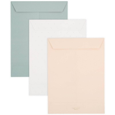 3pk Document Envelope Letter Size - Sugar Paper™