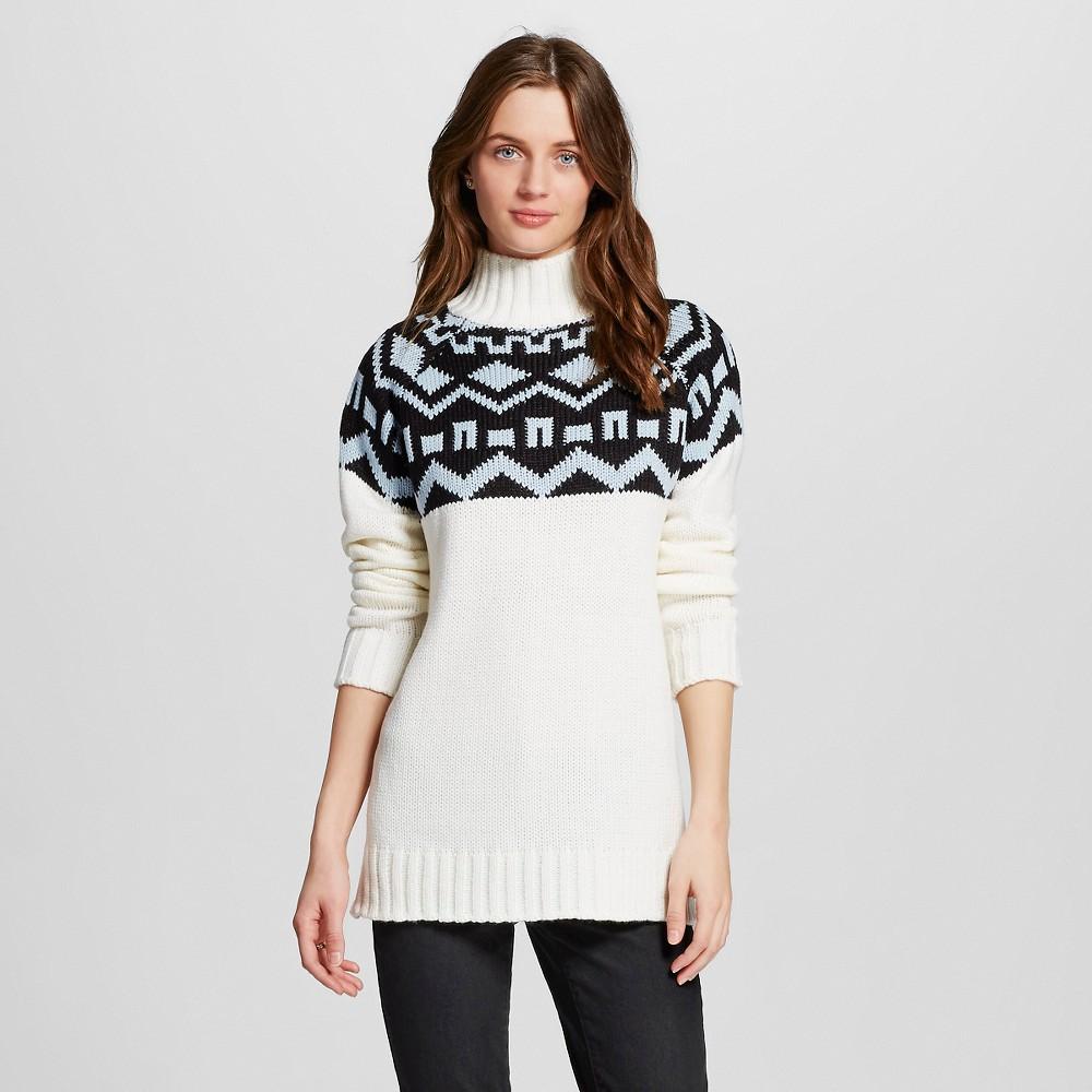 Image of Women's Fair Isle Pullover Sweater White Cap Combo L - 262.5