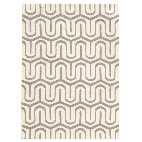 Geo Luxuriously Soft Maze Accent Rug Gray/White - Linon - image 1 of 4