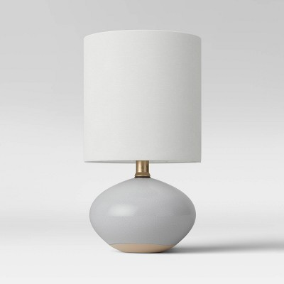 CA Ceramic Glaze Accent Lamp Light Gray (Includes Energy Efficient Light Bulb)- Project 62™