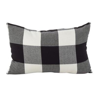 Throw Pillow Saro Lifestyle Almost Black