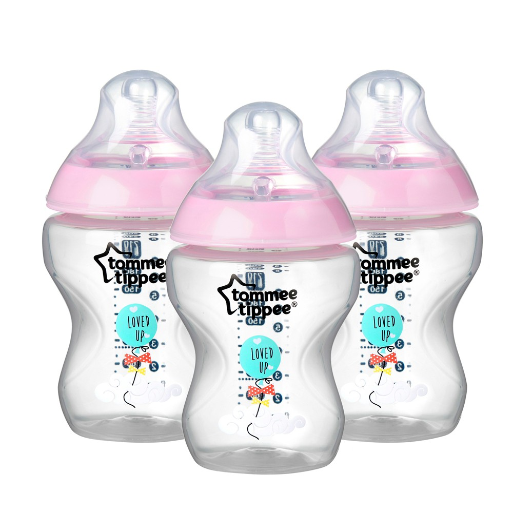 Tommee Tippee Closer to Nature Bottle - Pink 9oz (3pk)