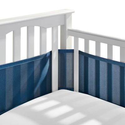 BreathableBaby Mesh Crib Liner - Navy