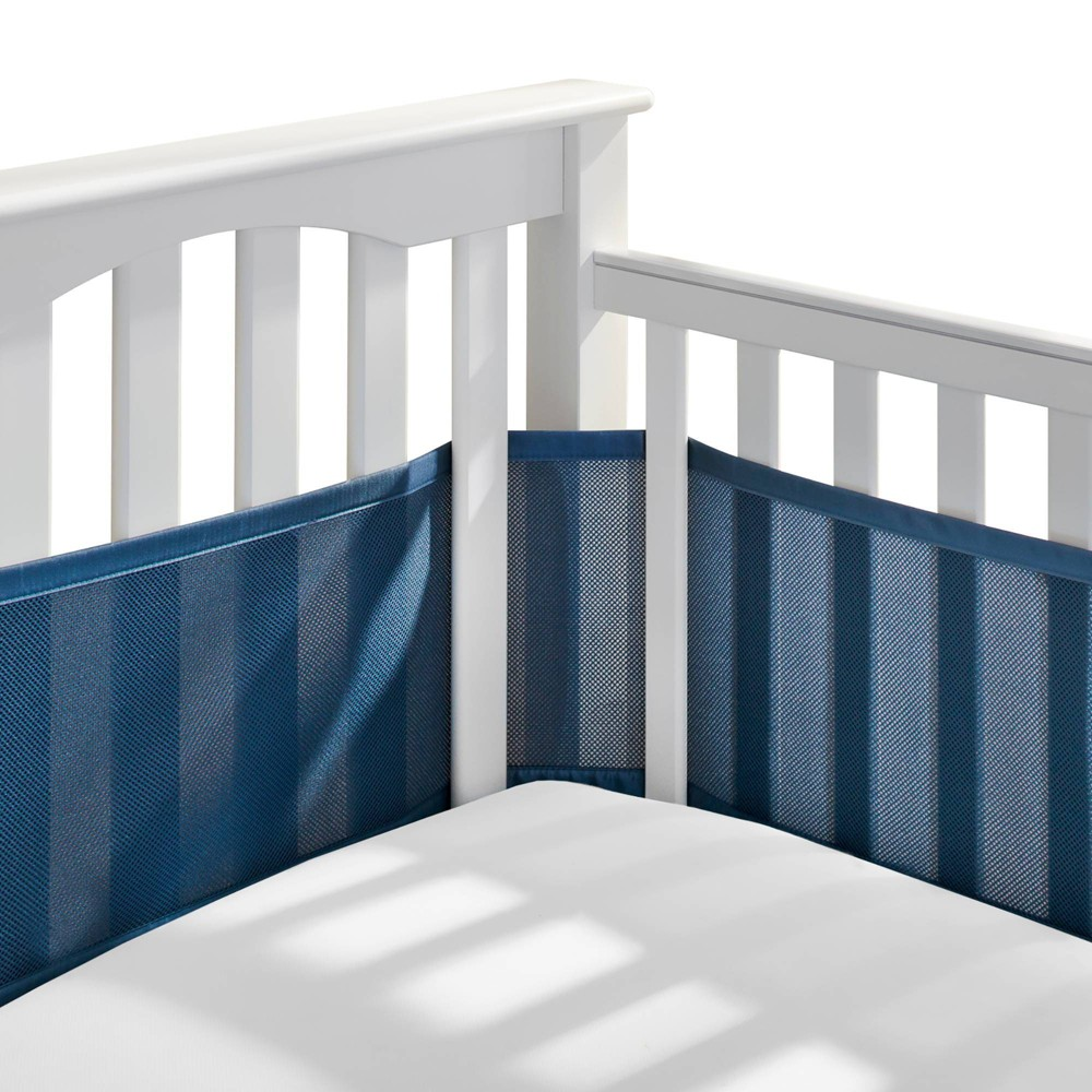 Image of BreathableBaby Mesh Crib Liner - Navy