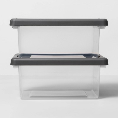 2pk Latching Storage Bin Clear - Made By Design - Made By Design™