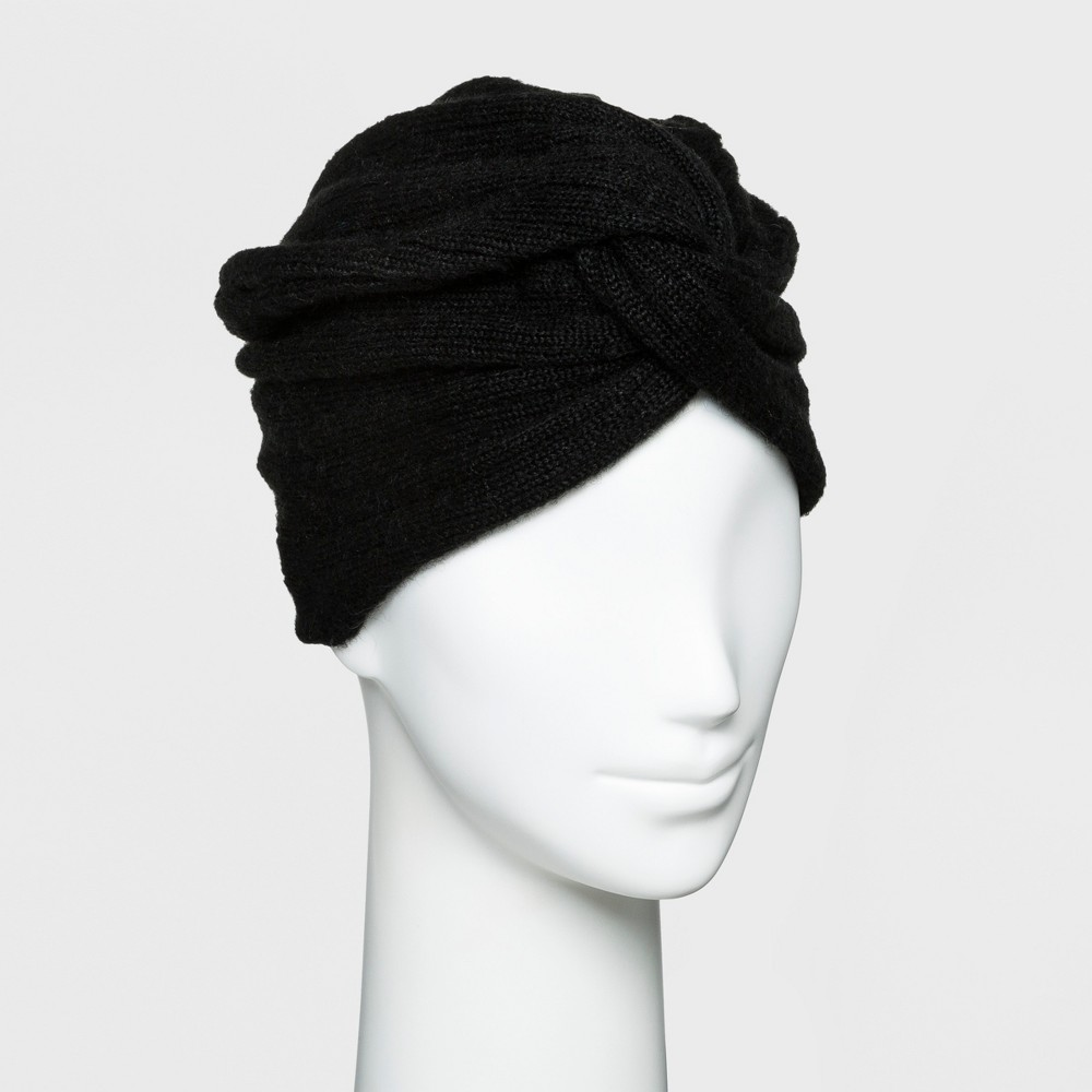 Women's Textured Turban - A New Day Black