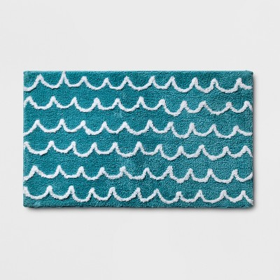 Scallop Wave Bath Rug Blue - Pillowfort™
