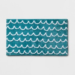 Scallop Wave Bath Rug Blue - Pillowfort™