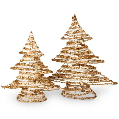 Rattan Christmas Tree Set - National Tree Company