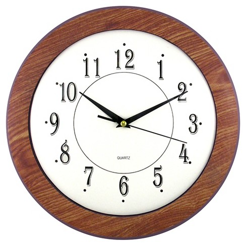 "Wood Time 12"" Wall Clock Elm Finish - TimeKeeper® - image 1 of 1"