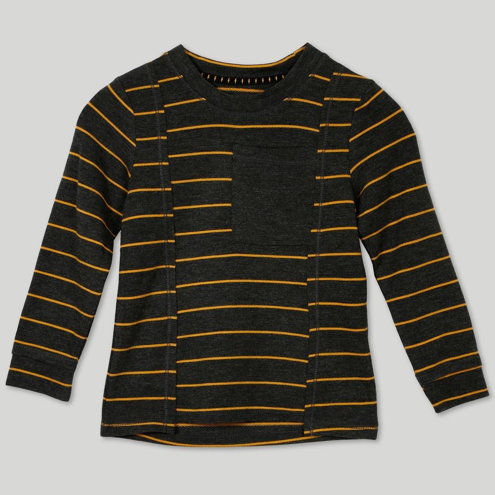 Image of Afton Street Toddler Boys' Stripe Long Sleeve T-Shirt - Yellow 18M, Boy's