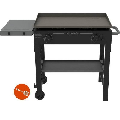 Megamaster 2-Burner Griddle Grill with Stainless Steel Spatula 720-0785ASP