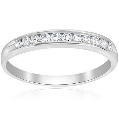 Pompeii3 1/4ct Diamond 10k White Gold Wedding Anniversary Guard Ring