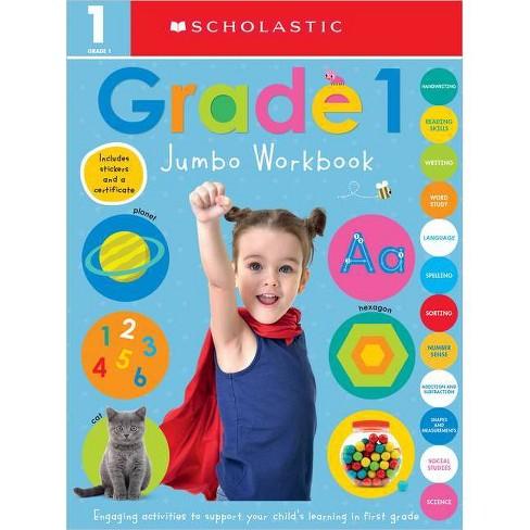 First Grade Jumbo Workbook: Scholastic Early Learners (Jumbo Workbook) - (Paperback) - image 1 of 1