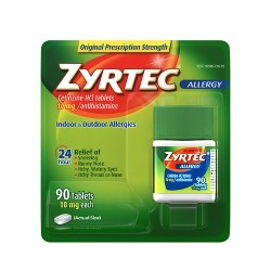 Zyrtec 24 Hour Allergy Relief Tablets - Cetirizine HCl