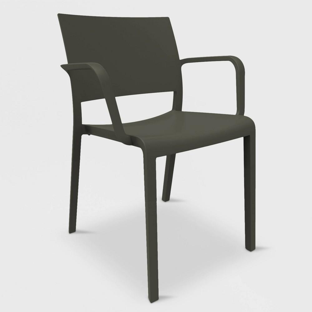 Image of New Fiona 2pk Patio Armchair - Black - RESOL