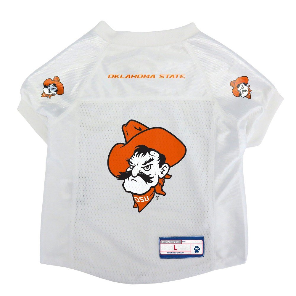 Oklahoma State Cowboys Little Earth Pet Football Jersey - L, Multicolored