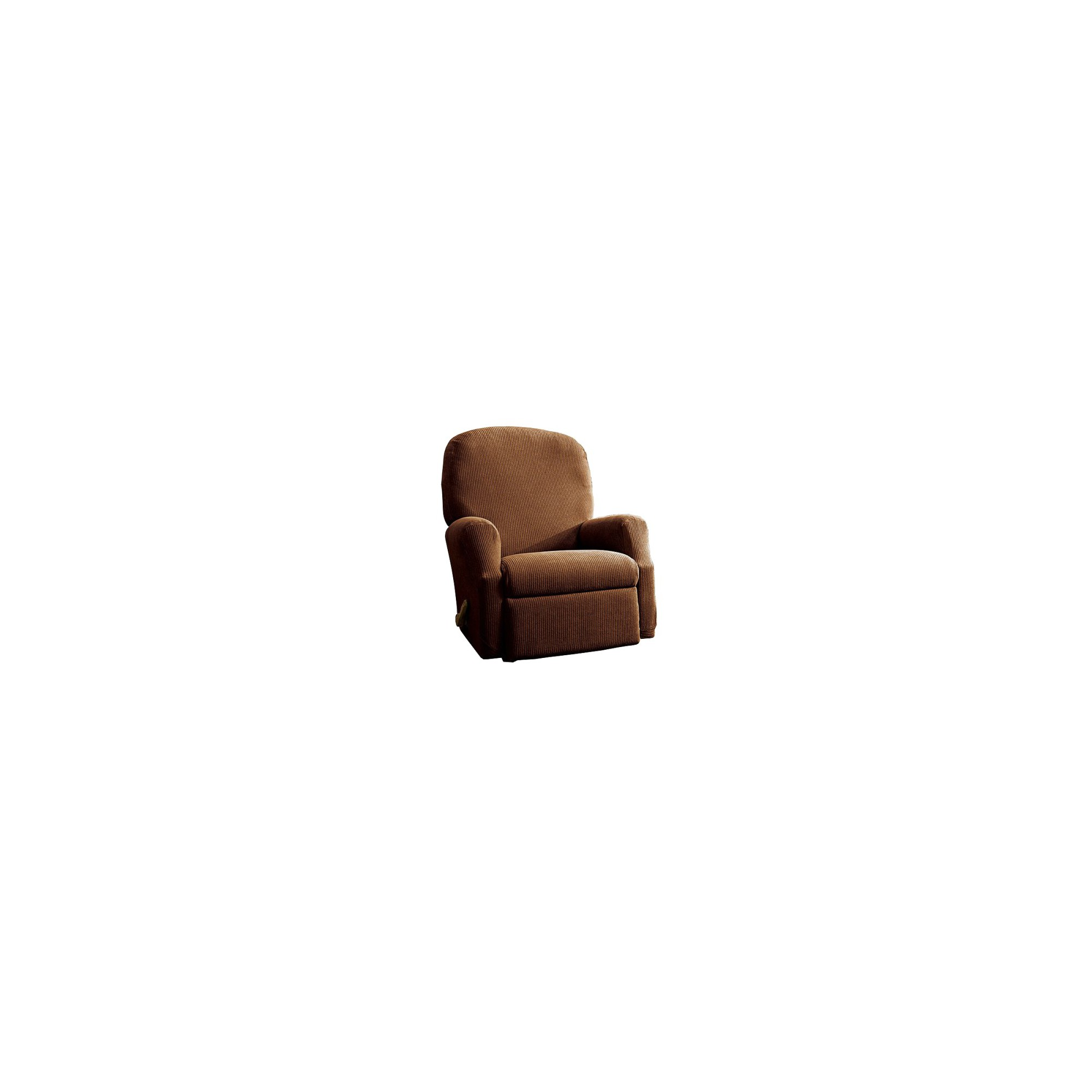 Oar Brown Stretch Rib Recliner Slipcover - Sure Fit