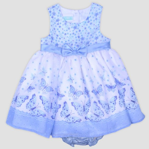 3a9458833 Baby Girls  Printed Swiss Dot Chiffon Dress With Shrug Nate   Annee ...