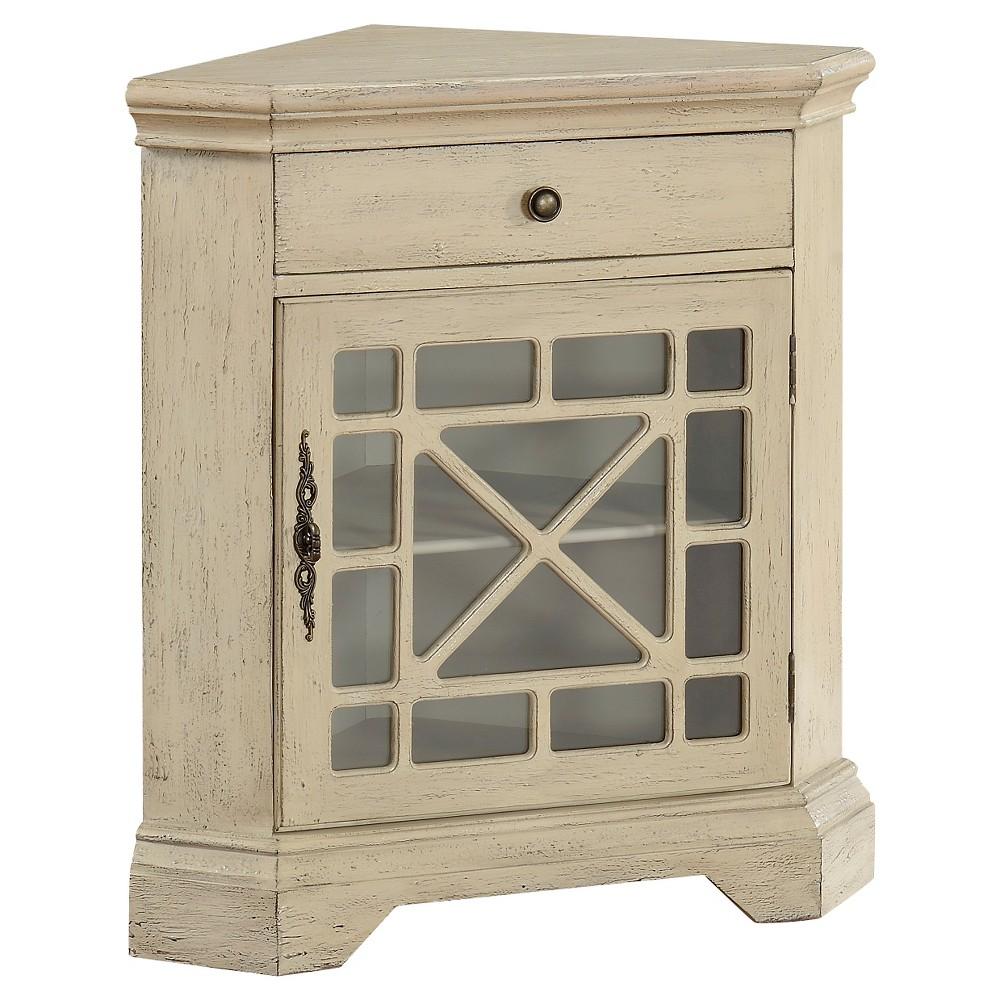 Milstone Corner Cabinet - Ivory - Christopher Knight Home