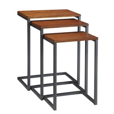 Set of 3 Caroline Nesting Tables Chestnut - Carolina Chair & Table