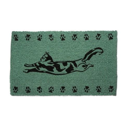 TAG Frisky Cat Kitty Kitten Paw Prints Coir Doormat Indoor Outdoor Welcome Mat - image 1 of 2