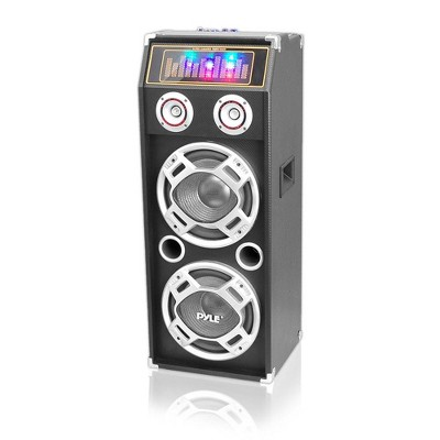 Pyle  PSUFM1035A Disco Jam 1000 Watt 2 Way DJ Bluetooth Karaoke Party Speaker with 3 Color Changing Flashing LED Disco Lights, & 2 1/4 Inch Mic Inputs