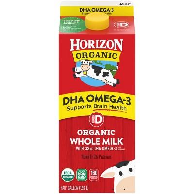 Horizon Organic Whole Milk with DHA Omega-3 - 0.5gal