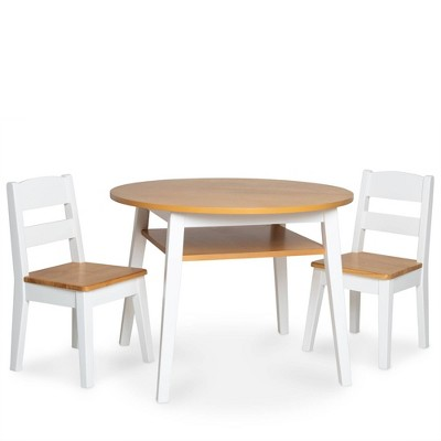 Melissa & Doug Wooden Round Table & Chairs Set
