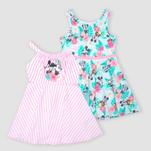 95b83430260 Toddler Girls  Disney Minnie Mouse 2pk Dresses - Green Pink   Target