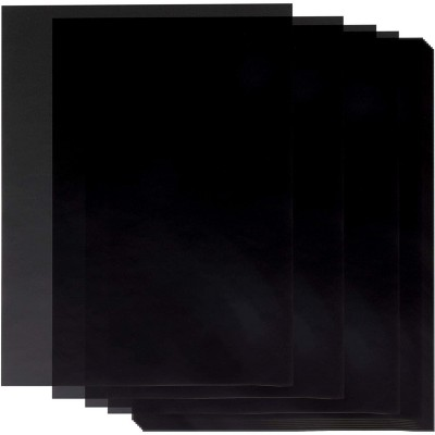 Paper Junkie 50-Pack Black Translucent Vellum Paper Sheets for Invitations and Tracing (8.5 x 11 in)