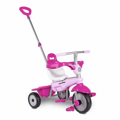 smarTrike Breeze Kids 3 in 1 Tricycle Push Bike, Adjustable Trike Ride On Toy for Baby, Toddler, and Infant Ages 15 Months to 3 Years, Pink