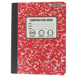 Wide Ruled Composition Notebook (Colors May Vary) - Unison