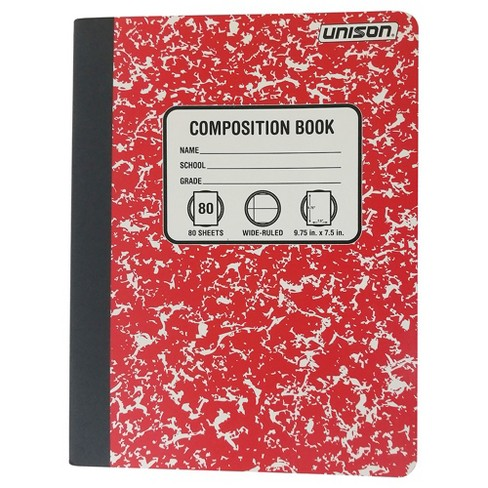 Wide Ruled Composition Notebook (Colors May Vary) - Unison - image 1 of 4