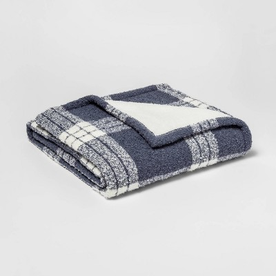Plaid Boucle Throw Reversed To Sherpa   Threshold™ by Threshold