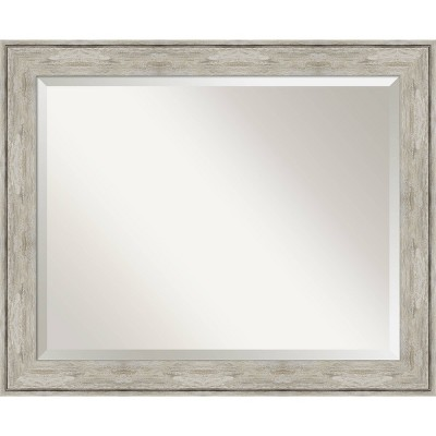 Crackled Framed Bathroom Vanity Wall Mirror Metallic - Amanti Art