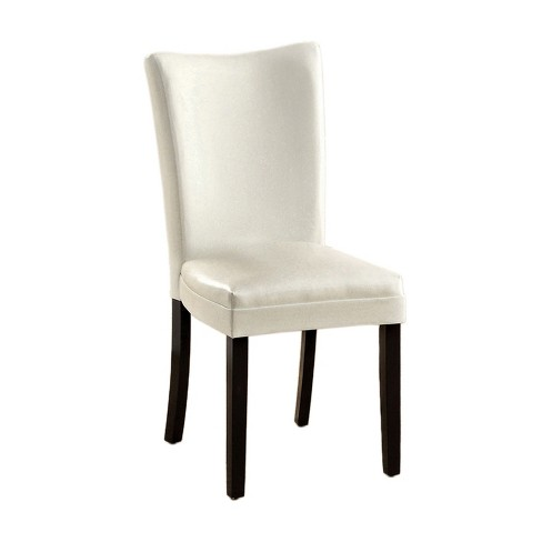 miBasics Curved Parson Chair Wood/White (Set of 2) - image 1 of 2