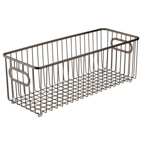 mDesign Deep Metal Bathroom Storage Organizer Basket Bin - image 1 of 4