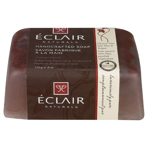 Eclair Naturals Indonesian Patchouli & Sandalwood Handcrafted Bar Soap - 6oz - image 1 of 1