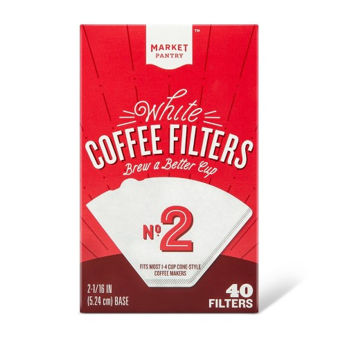 White Cone 2 Coffee Filters 40 Ct Market Pantry