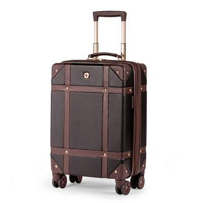 SWISSGEAR 19  Hardside Trunk Expandable Carry On Suitcase - Black