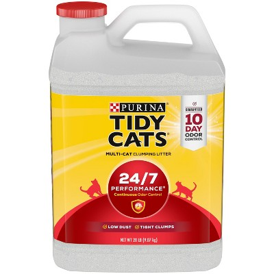 Purina Tidy Cats 24/7 Performance Clumping Cat Litter for Multiple Cats - 20lbs