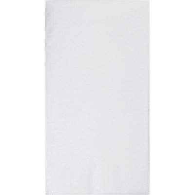 50ct White Buffet Airlaid Solid Napkins