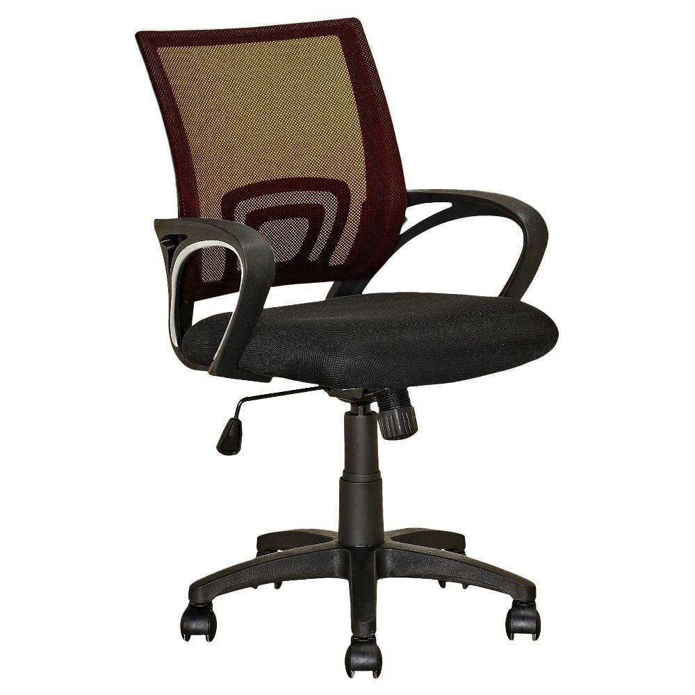 Workspace Mesh Back Office Chair Dark Brown - CorLiving
