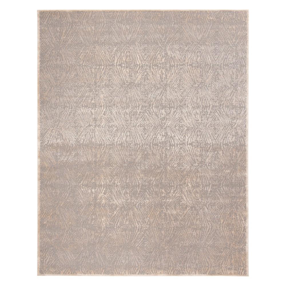 8'X10' Geometric Area Rug Ivory/Gray - Safavieh, White