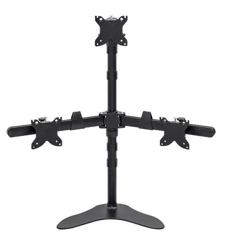 Monoprice Triple Monitor Pyramid Free Standing Desk Mount For 15-30in Monitors | Rotate 360°, Swivel ±60°, Tilt ±12° - image 1 of 4
