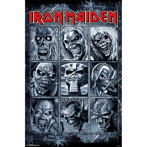 """34""""x23"""" Iron Maiden Grid Unframed Wall Poster Print - Trends International - image 1 of 2"""